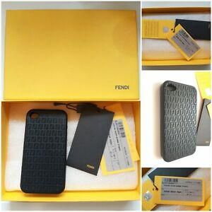 FENDI iPhone 4 Cover Gomma FF/NERO  Unisex Accessory. In LNC with tags