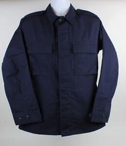Propper Tactical Mens Blue Uniform Work Long Sleeve Shirt Size Small Regular