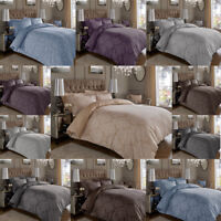 600TC Damask Floral Luxury Duvet Quilt Cover Reversible Bedding Set All Sizes