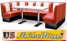 hw-270 American Diner Bench Corner Seat Furniture 50´s Retro Fiftie USA Style