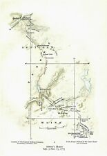 Original 1775 Revolutionary War Map Titled Arnold'S March Sept 5 - Nov 13, 1775