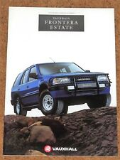 1994 VAUXHALL FRONTERA ESTATE Sales Brochure - 2.3TD 2.4i Near Mint Condition
