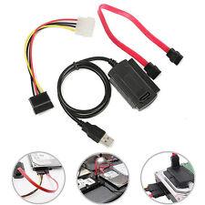 Adaptateur Convertisseur USB 2.0 Vers IDE SATA 2.5 3.5 Cable Pr Disque Dur HDD