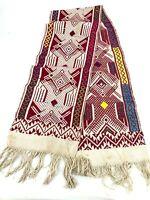 """Vtg Table Runner Hippie Boho Home Decor Woven Ethnic embroidered 36""""  (G7)"""