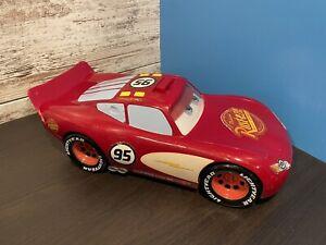 "Large 14"" Lightning McQueen Disney Pixar Cars Talking Plus Sounds Works!"