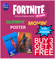 PANINI FORTNITE RELOADED 2020 MOVIN' GLOWIN' TRADING CARDS 251-315 - YOU CHOOSE