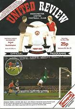Manchester United v Southampton - Div 1 - 1/5/1982 - Football Programme