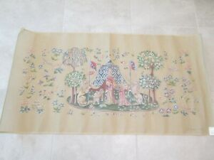 MEDIEVAL RUG OR WALL HANGING-PENELOPE NEEDLEPOINT CANVAS