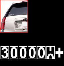300K 300,000 MILE WINDOW STICKER VINYL DECAL HIGH MILEAGE turn over