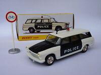 Peugeot 404 break de Police PIE - ref 1429 au 1/43 de dinky toys atlas