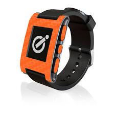Fibra Di Carbonio Arancione pelle da iCarbons per il Pebble Smartwatch