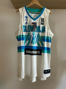 Luka Doncic 100% Authentic Home Jersey Slovenia FIBA Adidas Brand New LIMITED