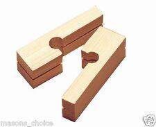 Wooden Line Blocks (20pcs) for Bricklayers, Blocklayers, Masons (Corner Blocks)