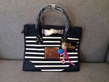 NWT Paul's Boutique Olivia Multi-Color Stripe Large Tote Bag Navy/White