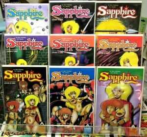SAPPHIRE #1 #2 #3 #4 #5 #6 #7 #8 #9 Aircel Comics FULL SET Barry Blair SEXY VF