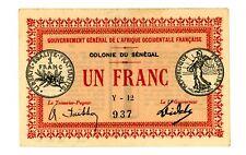 Senegal ... P-2b ... 1 Franc ... L.1917 ... *AU*