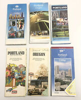 Lot Of 6 Vintage Oregon State & City Travel Road Maps Portland Citimap
