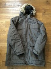 DLX Highland Mens Down Jacket Waterproof Long Parka with Hood Khaki Green XXL