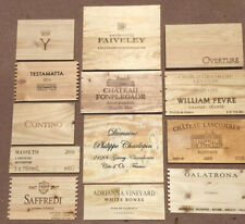 Wood Wine Box 13 Panel lot Crate lids & ends NAPA French. Cellar Decor