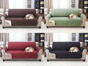 "SLIPCOVER REVERSIBLE SOFA PET FURNITURE COUCH PROTECTOR COVER, 1800 COUNT 75"" x"