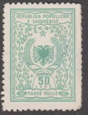 Albania Peoples Rep Takse Pulle General Revenue unused unlisted 50L 1952