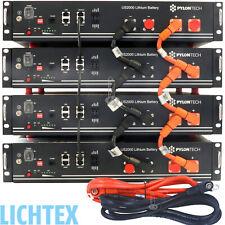 4x PYLONTECH US2000 Plus LiFePO4 48V 9,6kWh Lithium Photovoltaik Speicher System