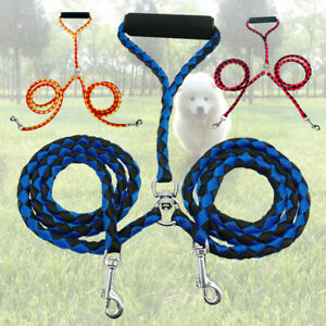 Outdoor Walking hiking Adjustable Dog Pet two Lead Leash No Pull Automatically