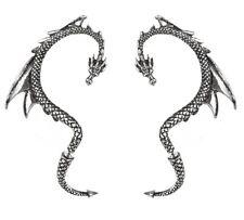 Alchemy Peltro Orecchino esca del drago Paio-Sinistro E Destro