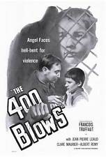 The 400 Blows Movie Poster 27x40 Francois Truffaut Jean-Pierre Leaud Claire