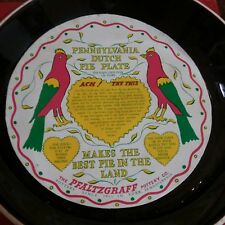 Vintage Pfaltzgraff Pennsylvania Dutch Stoneware Pie Plate in Original Box
