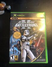 Star Wars: Battlefront II (Microsoft Xbox, 2005)-Great Condition-Free Shipping