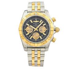 Breitling Chronomat Steel 18K Rose Gold Black Dial Watch CB011012/B968-357C