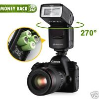 Universal Camera Flash Light Speedlite For Canon EOS Rebel & Nikon Sony