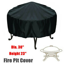 "30"" Outdoor Garden Round Fire Pit Cover Waterproof Patio Bbq Grill Protector S"