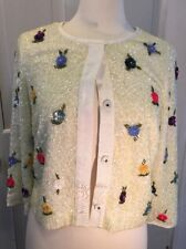 NWT Rare Anthropologie Elevenses Beaded Sequin Floral Cardigan S $298