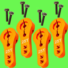 ► 4x Servohorn 25T 25 Zähne Servoarm Alu Orange CNC 35mm Servohebel MG995 MG946R
