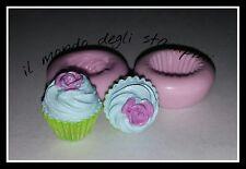 stampi, stampini silicone fimo,mold,Cup cake medio roselline cm h.2,10*L.1,8