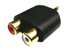 From OZ Quality 1PC 2 RCA Female to 3.5mm Male Stereo Adaptor Connector FREEPOST