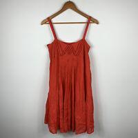 Witchery Womens Dress Size Small Reddish Orange Shift Dress Good Condition