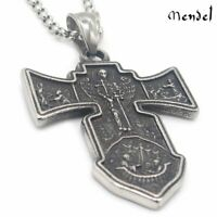Archangel St Saint Michael Angel Necklace Pendant Stainless Steel Catholic Jesus