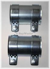 2 St. Auspuff Universal Rohrverbinder 76 x 125mm Doppelschelle 76 x 80,5 x 125mm