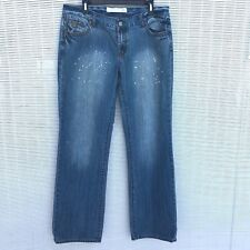 Tin Haul Mimi X-Boyfriend Womens Jeans Size 32/L Paint Splash Actual 36W X 34L