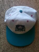 Aruba Embroidered Vintage 80s 90s Hat Flatbill Adjustable Blue Teal Purple White