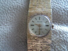 Vintage Gold Plated Accurist Hand Winding Swiss Made Ladies Watch Working
