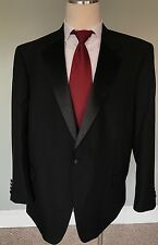 Tuxedo 50R JOS A BANK Black Wool Dinner Suit Mens