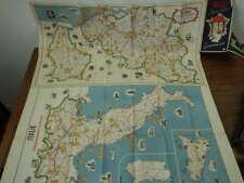 Carte Itineraire et Gastronomie FRANCE ITALIE LUXEMBOURG BELGIQUE vers 1950