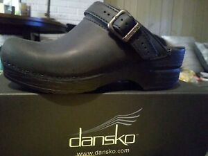Ingrid Oiled Black Dansko Size 36 NEW In box leather clog