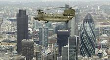 RAF Odiham Royal Air Force Chinook Helicoter Flying Over London 12x6 Inch Photo