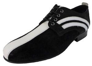 Ikon Original Badger Black and White MOD Shoes …