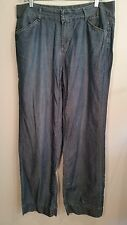 Womens Lightweight straight leg blue jeans slacks trousers Size 12 Inseam 31""